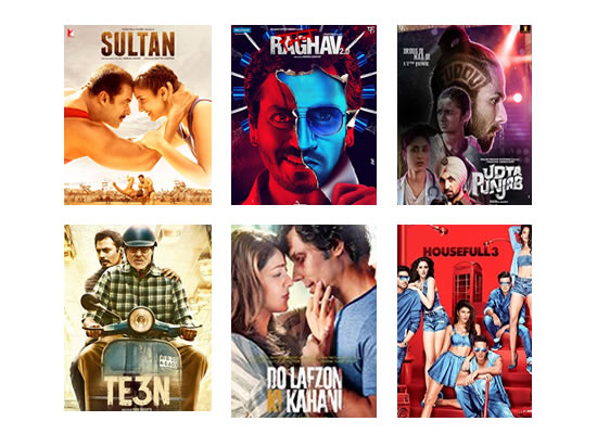 Box Office for the latest week -  8th July, 2016