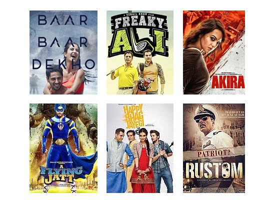 Box Office for the latest week -  14th September, 2016