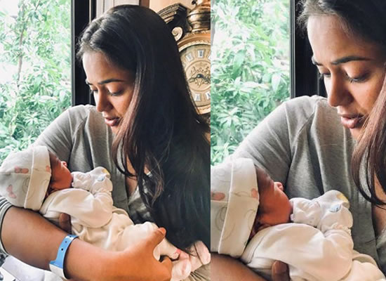 Sameera Reddy to share the first picture of her newborn daughter!
