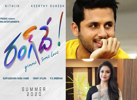 Nithiin and Keerthy Suresh come together for Venky Atluri's Rang De!