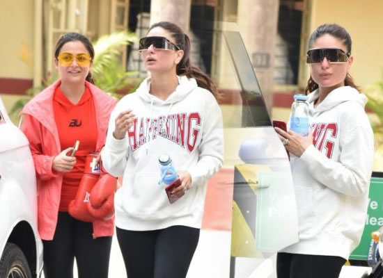 Kareena Kapoor's stylish avatar during a gym session!