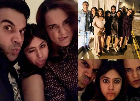 Kangana Ranaut and Rajkummar Rao go crazy with Mental Hai Kya's team in London!