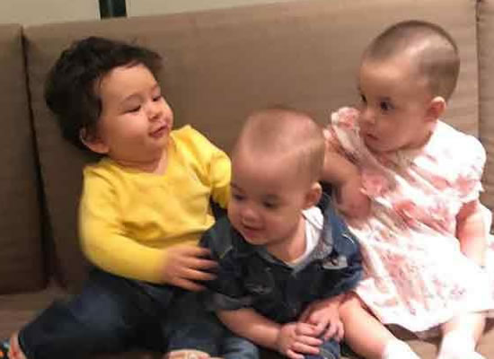 Taimur Ali Khan's playdate with Karan Johar's twins Yash and Roohi!