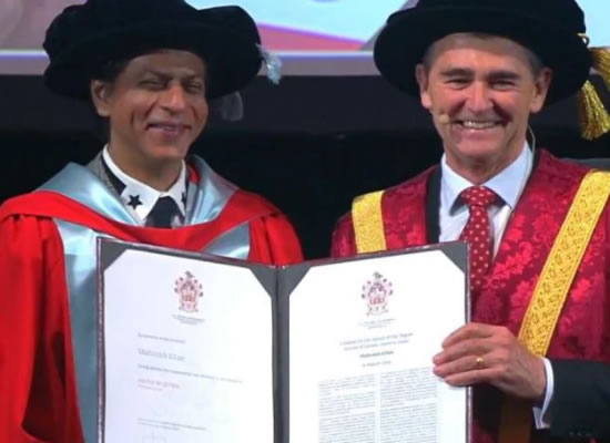 SRK to receive an honorary doctorate degree from La Trobe University!