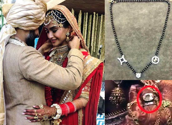 Sonam Kapoor's specially made Mangalsutra and wedding ring!