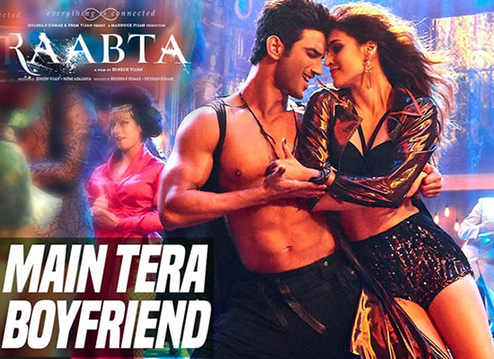 Main Tera Boyfriend song of film Raabta at No. 1 from 9th June to 15th June!