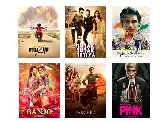Box Office for the latest week -  13th October, 2016