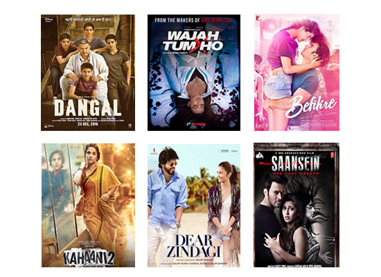 Box Office for the latest week -  28th December, 2016
