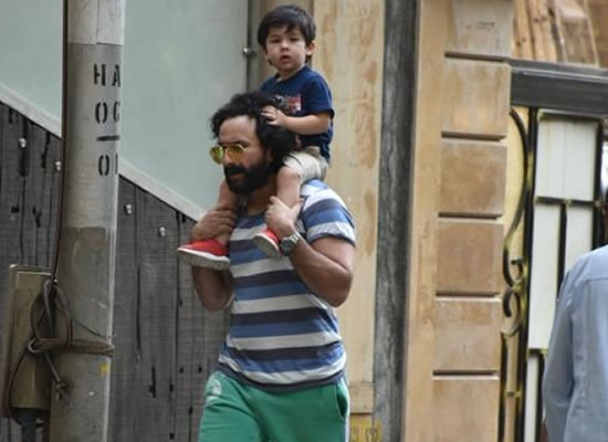 Taimur to enjoy piggyback ride on dad Saif Ali Khan's back!