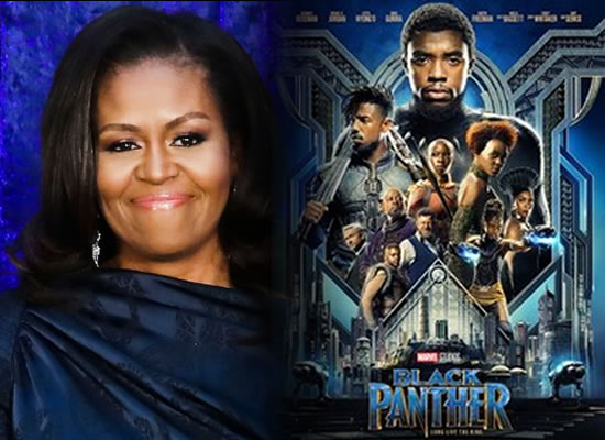 Black Panther will inspire people of all backgrounds to dig deep, says Michelle Obama!