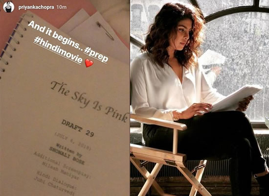 Priyanka Chopra begins preparation for Shonali Bose's The Sky Is Pink!