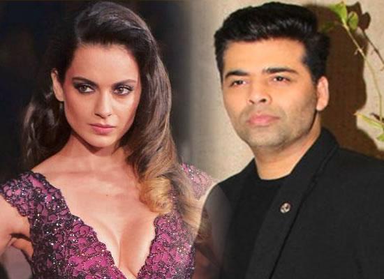 I am going to run out of here, says Karan Johar on hearing Kangana Ranaut's name!