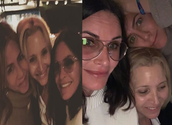 Jennifer Aniston, Courteney Cox and Lisa Kudrow have a girl's night out!