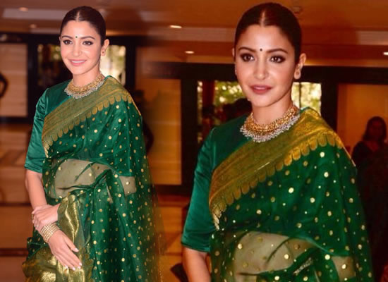 Anushka Sharma's green saree avatar at an award function!