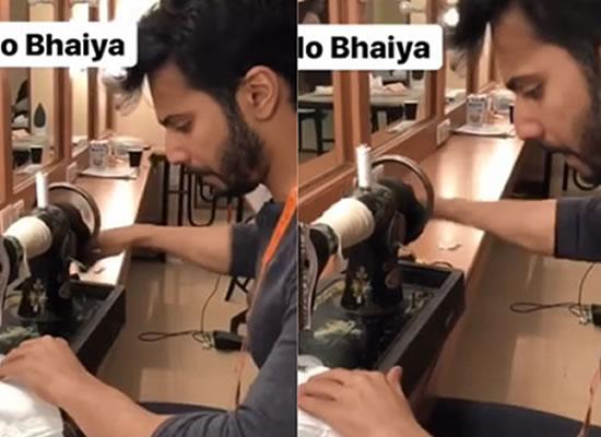 Varun Dhawan successfully sews a shirt for Sui Dhaaga!