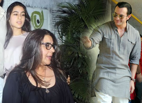 Amrita Singh criticizes Saif for his remarks on daughter Sara Ali Khan's debut!