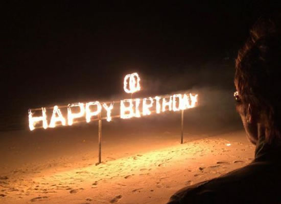 Amitabh Bachchan's 75th birthday with crackers and a huge cake!