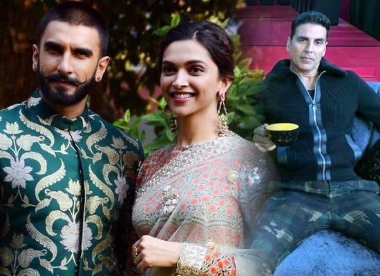 Hats off to Deepika Padukone for being with Ranveer Singh, says Akshay Kumar!
