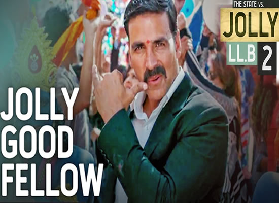 Jolly Good Fellow Song of film Jolly LLB 2  at No. 1 from 10th Feb to 16th Feb!
