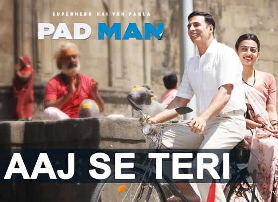 Aaj Se Teri song of film Pad Man at No. 2 from 9th Feb to 15th Feb!