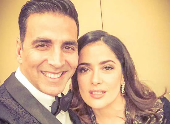 Salma Hayek wishes luck to Akshay for 'Toilet: Ek Prem Kath'!