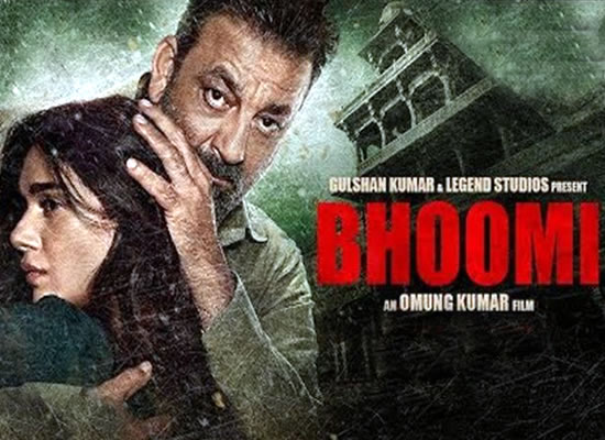 The soundtrack of Bhoomi is an average one with a tuneful number Lag Ja Gale.