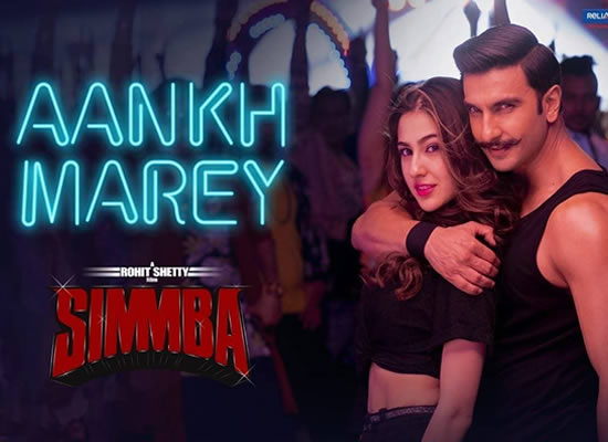 Aankh Marey song of film Simmba at No. 3 from 2nd Aug to 8th Aug!