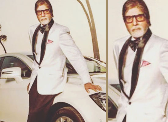 Big B shares a throwback pic posing with his swanky car!