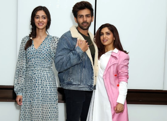 Kartik, Ananya and Bhumi to promote Pati Patni Aur Woh in Delhi!