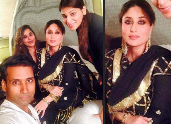 Kareena Kapoor Khan's all-black attire with her glam team!