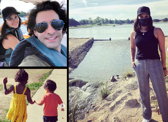 Sunny Leone's fun outing in Lake Balboa with her family!