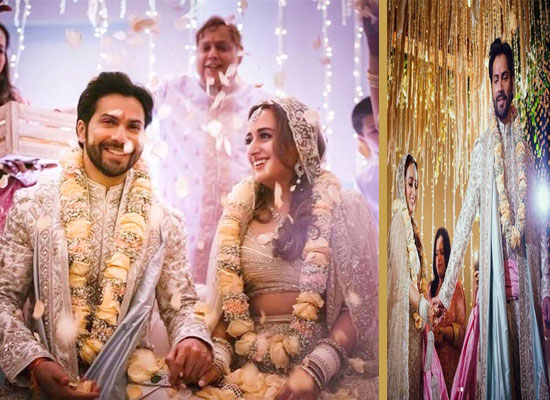 Varun Dhawan and Natasha Dalal's first photo as husband and wife!