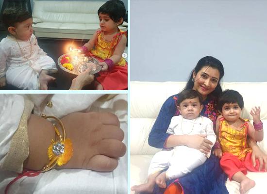 Radhika Pandit's loveable moments with family while celebrating Raksha Bandhan!