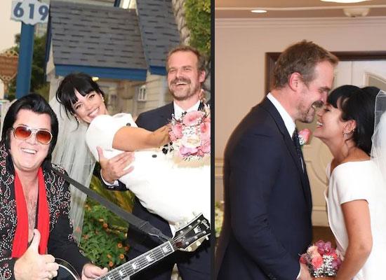 Hollywood star David Harbour marries singer Lily Allen in surprise Las Vegas wedding!