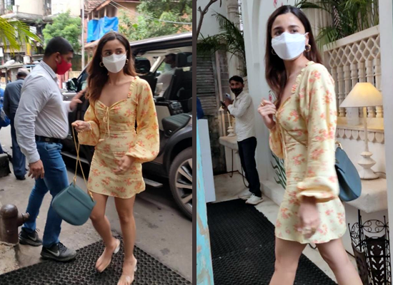 Alia Bhatt looks chic in her floral dress during a lunch date!