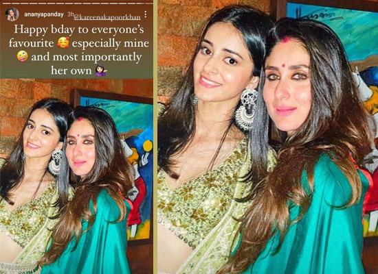 Ananya Panday's sweet birthday wishes to her favourite star Kareena Kapoor Khan!