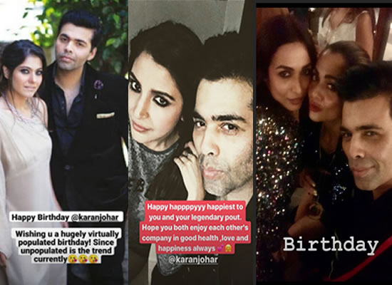 Celebs' lovely birthday wishes for the filmmaker Karan Johar!
