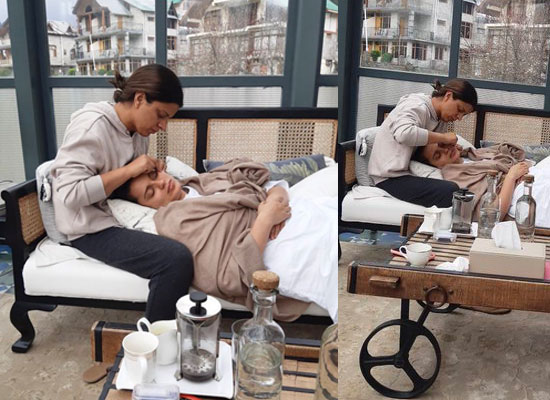 Kangana Ranaut gets beauty treatments from her sister Rangoli!