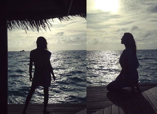 Sushmita Sen shares silhouette snapshots from her Maldives vacay!
