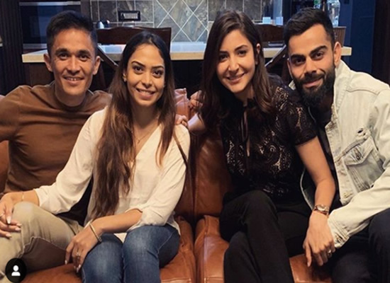 Anushka and Virat to celebrate Team India's victory with footballer Sunil Chhetri!