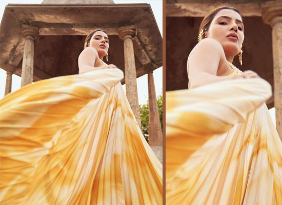 Samantha Akkineni's chic avatar in a pleated halter dress!