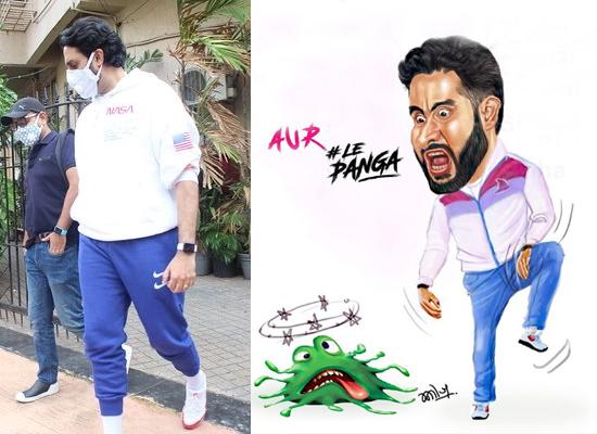Abhishek Bachchan shares a peculiar artwork defeating coronavirus in Kabaddi style!