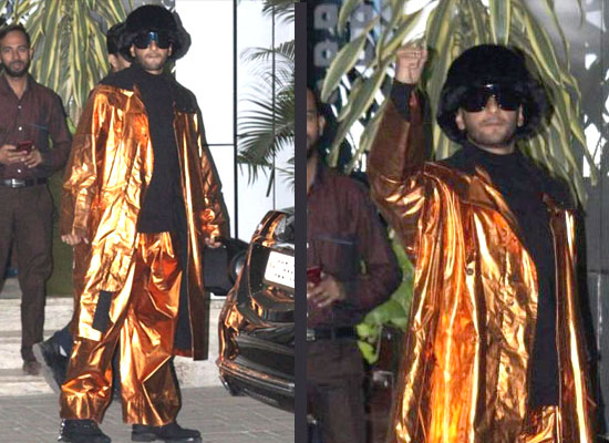 Ranveer Singh's stylish avatar in a shiny gold outfit!
