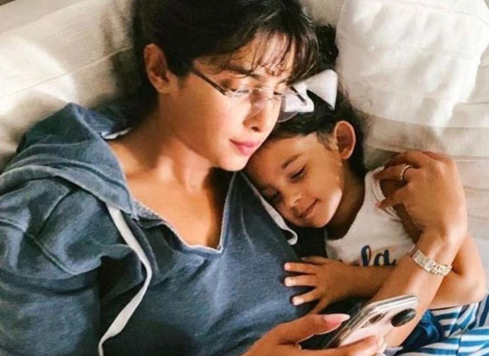 Priyanka Chopra Jonas's lazy moments with her niece!