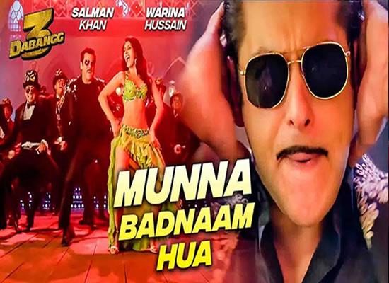 Munna Badnaam song of film Dabangg 3 at No. 2 from 31st Jan. to 6th Feb. 2020!