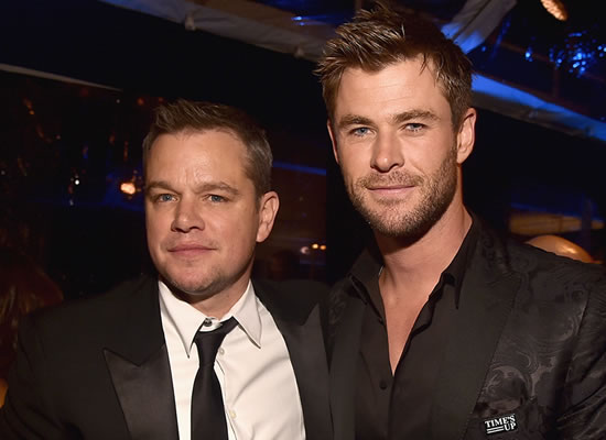 Matt Damon stepped on a python in Chris Hemsworth's home turf!