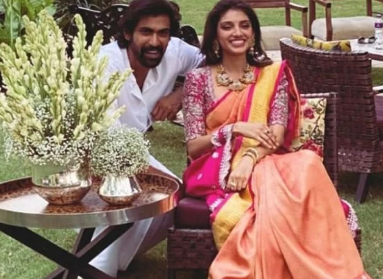 Rana Daggubati gets engaged to Miheeka Bajaj in Ramanaidu studios!