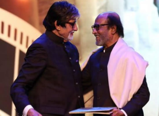 Big B's admiration for Rajinikanth at IFFI 2019!