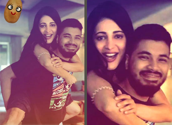 Shruti Haasan to share a cute pic of her piggyback ride with alleged BF Santanu!
