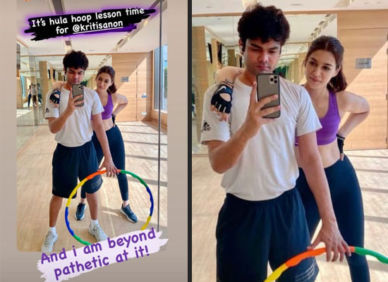 Kriti Sanon's hula hoop session with a mirror selfie!